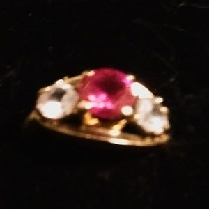 Vintage Baden/Foss Ruby/Diamond 10k Size 6 Ring